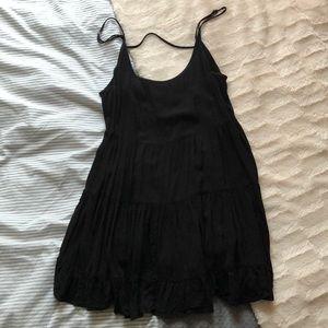 **Flowy Black Brandy Dress**